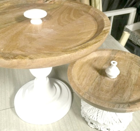 Tiered Trays from wooden tray s and candlesticks