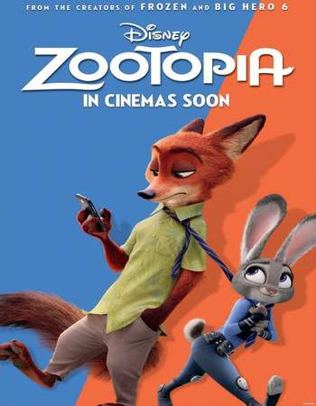 Poster Of Zootopia 2016 English 350MB BRRip 720p ESubs HEVC Free Download Watch Online Worldfree4u