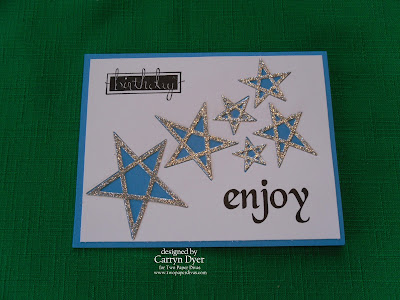 TWO PAPER DIVAS Design Team Card - Star Die Masculine Birthday