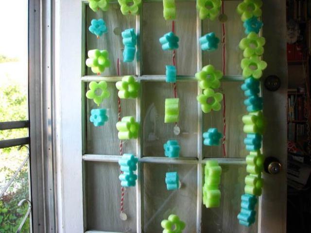 Colgantes para decorar en forma de flor