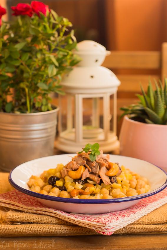Cous-cous con cordero, verduras y anacardos #singluten #sinlacteos