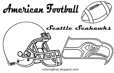 Seattle Seahawks printable easy image American football symbol coloring pictures for boys USA sports