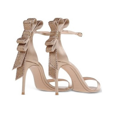 Nicholas Kirkwood Barely there stilettos with rhinestone bow