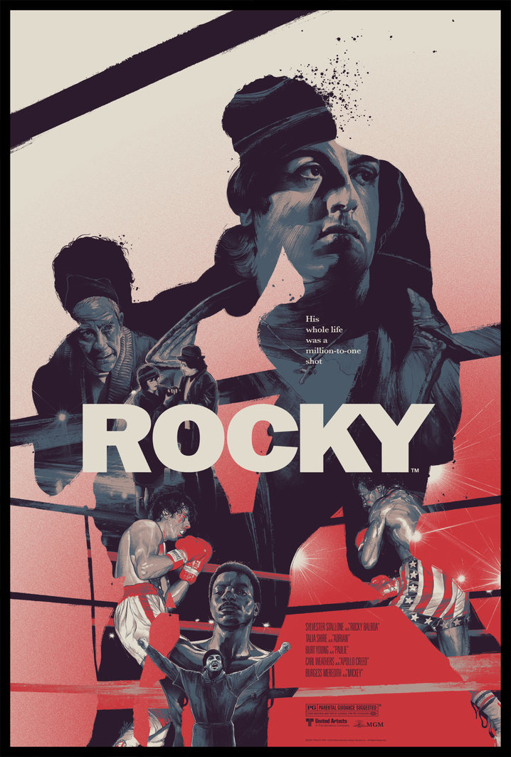rocky movie poster by gabz grey matter art release details