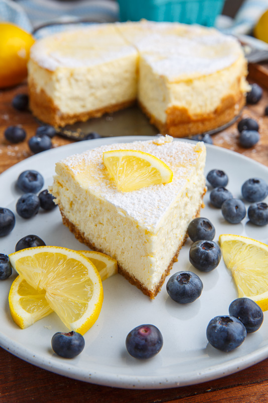 Lemon New York Style Cheesecake with Gingersnap Crust on ...