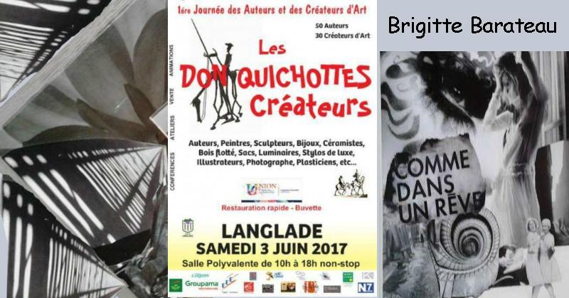 exposition les don quichottes / Brigitte Barateau à Langlade