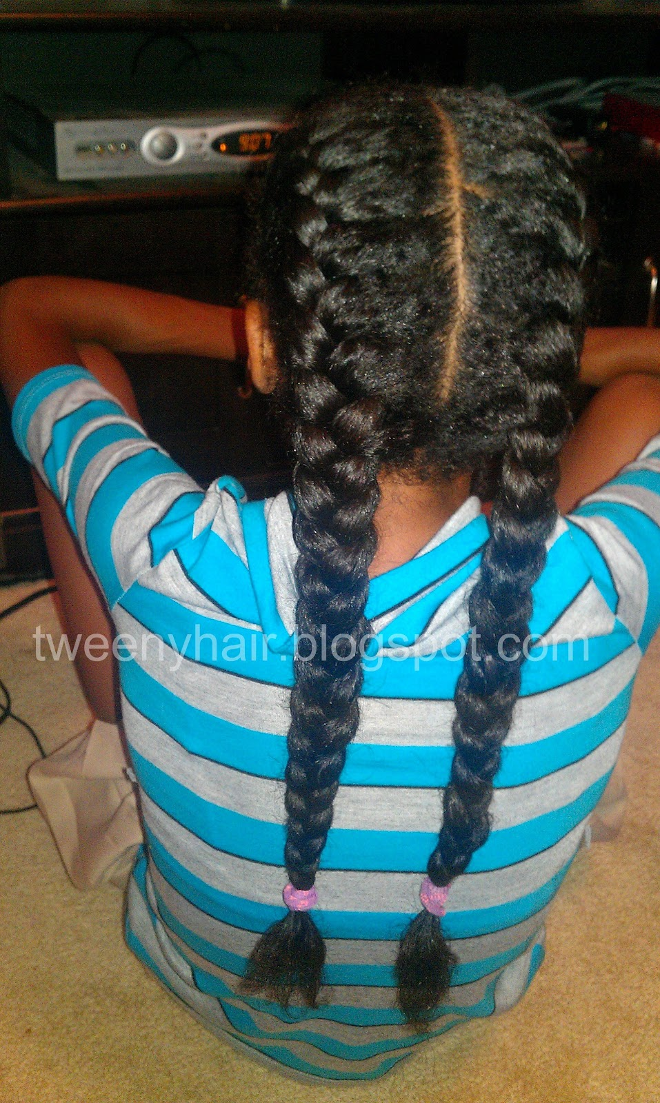 Tweeny Hair: Two French Braids