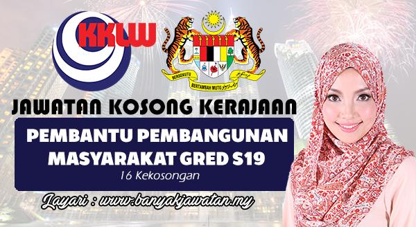 Jawatan Kosong Terkini 2017 di Kementerian Kemajuan Luar Bandar & Wilayah (KKLW)