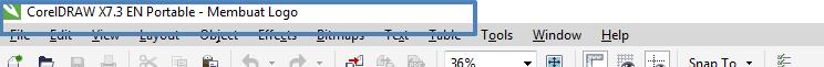 Fungsi Title Bar di CorelDraw