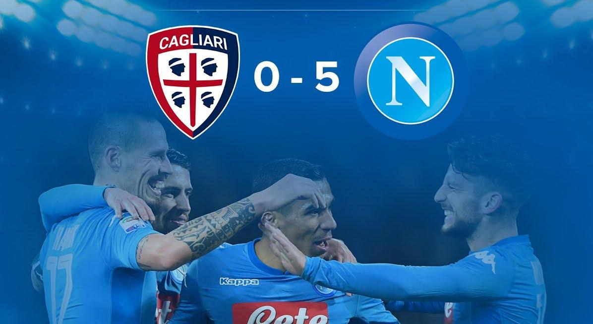 Show del Napoli a Cagliari: manita per provare l'allungo in classifica | Calcio Serie A