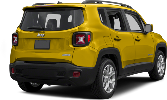 Rear 3/4 view of 2016 Jeep Renegade Sport