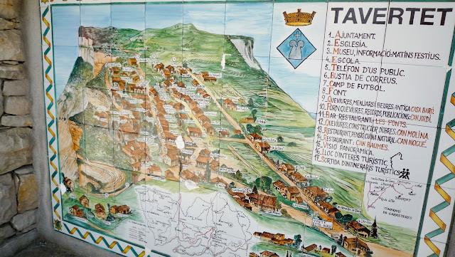 Mapa Tavertet