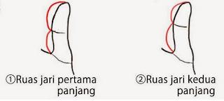 1.Panjangan mana ruas jari atas atau bawah