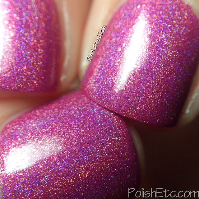 Glam Polish - Think Pink Trio - McPolish - Heart Breaker macro