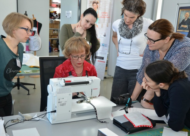 Blogger bei Bernina im Creative Center in Steckborn Schweiz