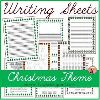 Christmas Writing template