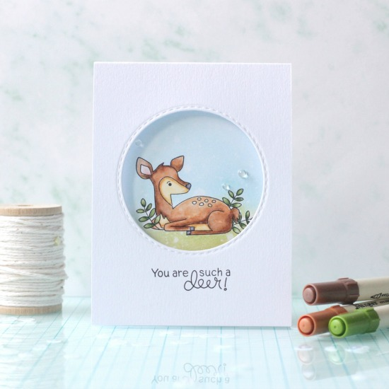 Deer Cards by April Guest Designer Svetlana Pavlova | Deer Friend Stamp Set by Newton's Nook Designs #newtonsnook #handmade