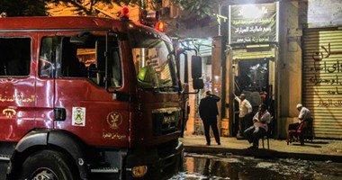 النيران تلتهم محلات تجارية بالعين السخنة في السويس