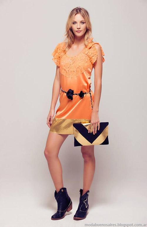 Vestidos cortos de fiesta verano 2015 Silvina Ledesma.