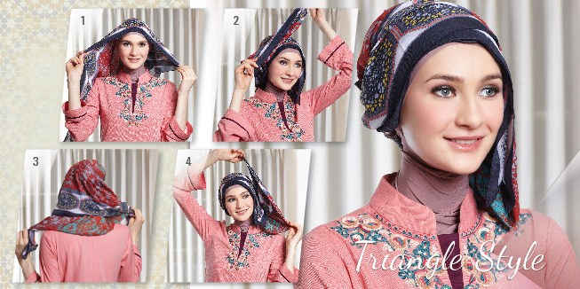 Trik Mudah Memakai Hijab Segi Empat Model Baru