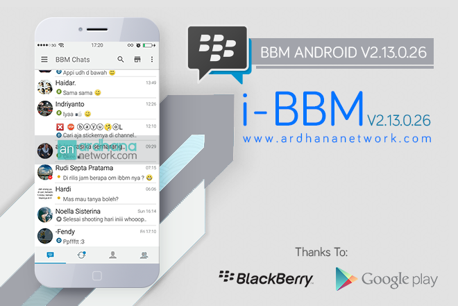 i-BBM V2.13.0.26 - BBM MOD Android Like iPhone