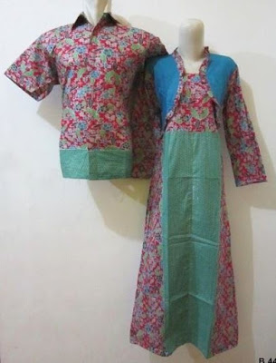 Long Dress Couple Motif 2 Warna