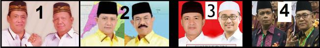 Empat pasang calon bupati dan wakil bupati Batu Bara 2018