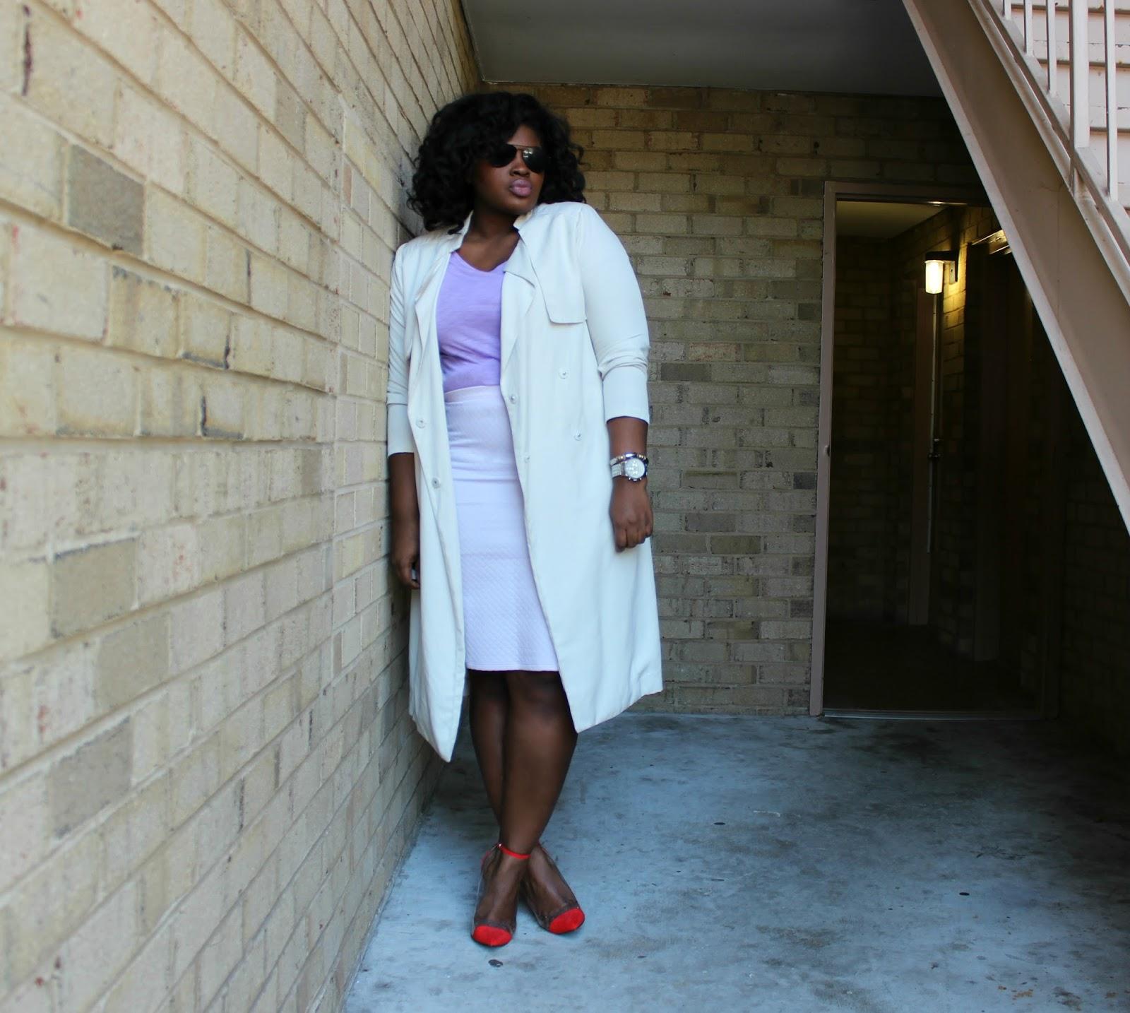 Purple Blouse and Skirt, Boohoo Plus