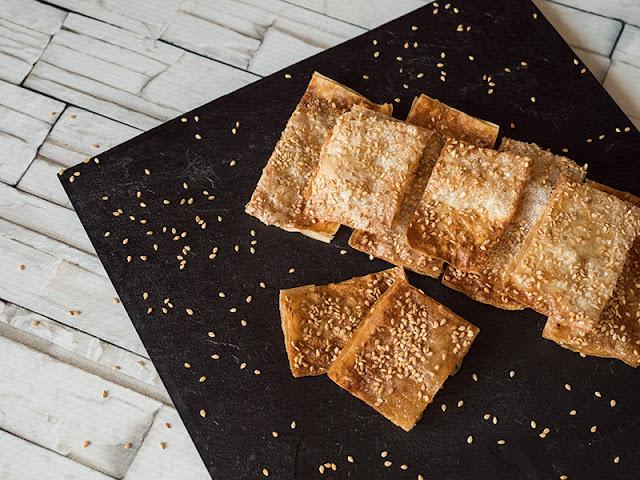 receta de Dulces de pasta filo con sésamo