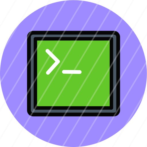 app application code console terminal window icon