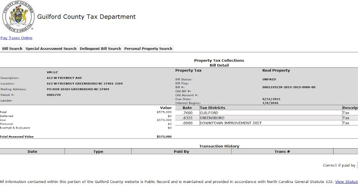 Guilford county delinquent property taxes