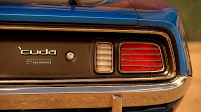 Muscle Sport Coupe Car 1971 Plymouth Barracuda Cuda 440 Taillights & Emblem