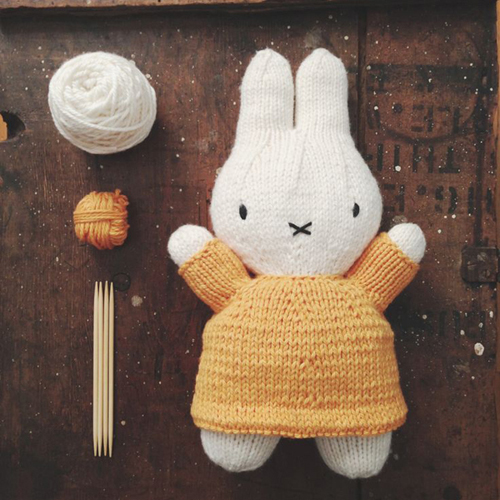 Knitted Miffy Bunny Toy - Free Pattern