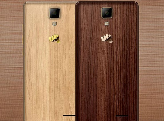 Micromax Canvas 5 Lite Special Edition with Wood Finish