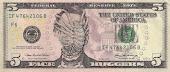 5 Dollar Bill - Face Hugger