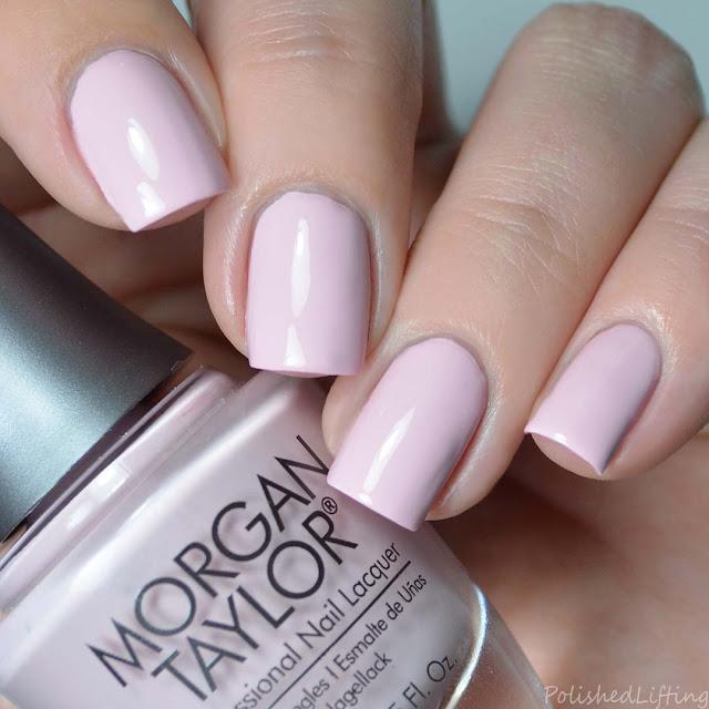 blush pink creme nail polish
