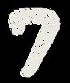 数字のペンキ文字「7」