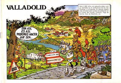 Ilustración del cómic dedicado a la historia de Valladolid