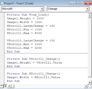 Kode Program Visual Basic HScrollBar dan VScrollbar