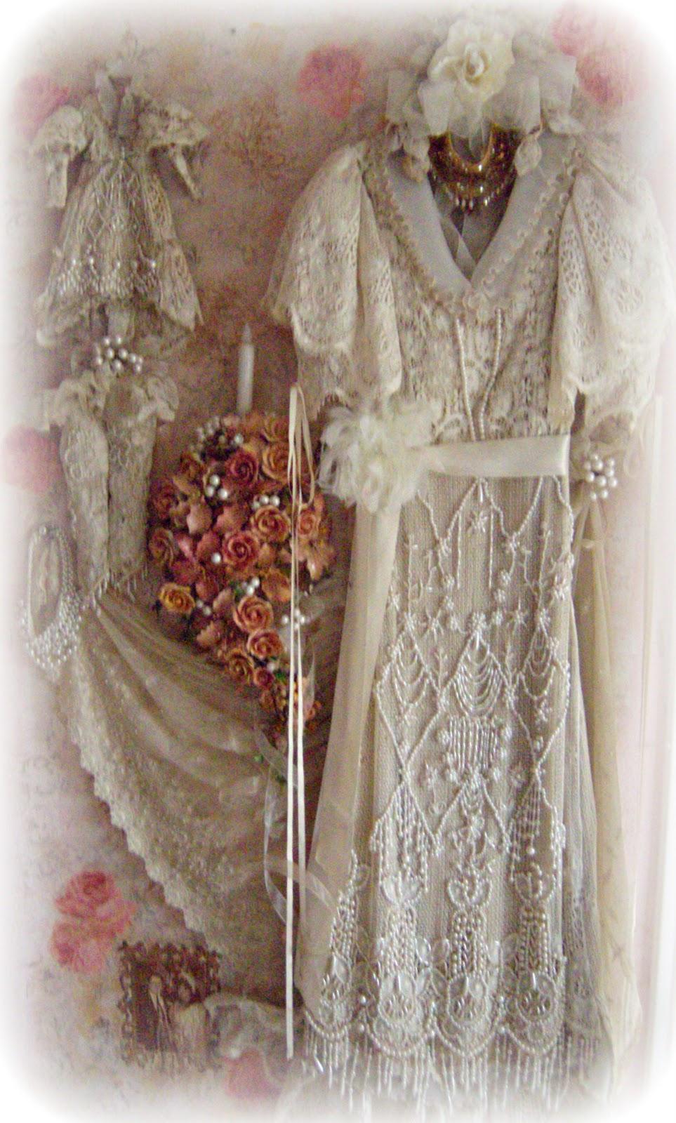 Suzy Homefaker: VINTAGE WEDDING DRESS SHADOW BOX