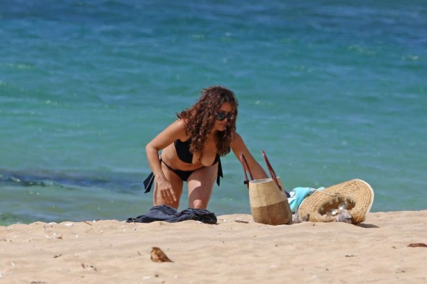Salma Hayek at a Beach