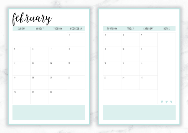 Free Printable Irma  Monthly Calendars  Planners  Eliza Ellis