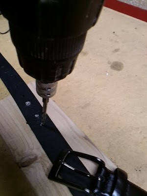 Here's How I Made My Belt Smaller With A Drill