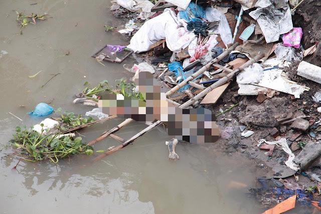 Thi thể nữ giới không còn nguyên vẹn trôi trên sông