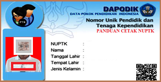 Panduan Resmi Cetak Kartu NUPTK melalui Velval PTK T.P 2018/2019 Kemdikbud