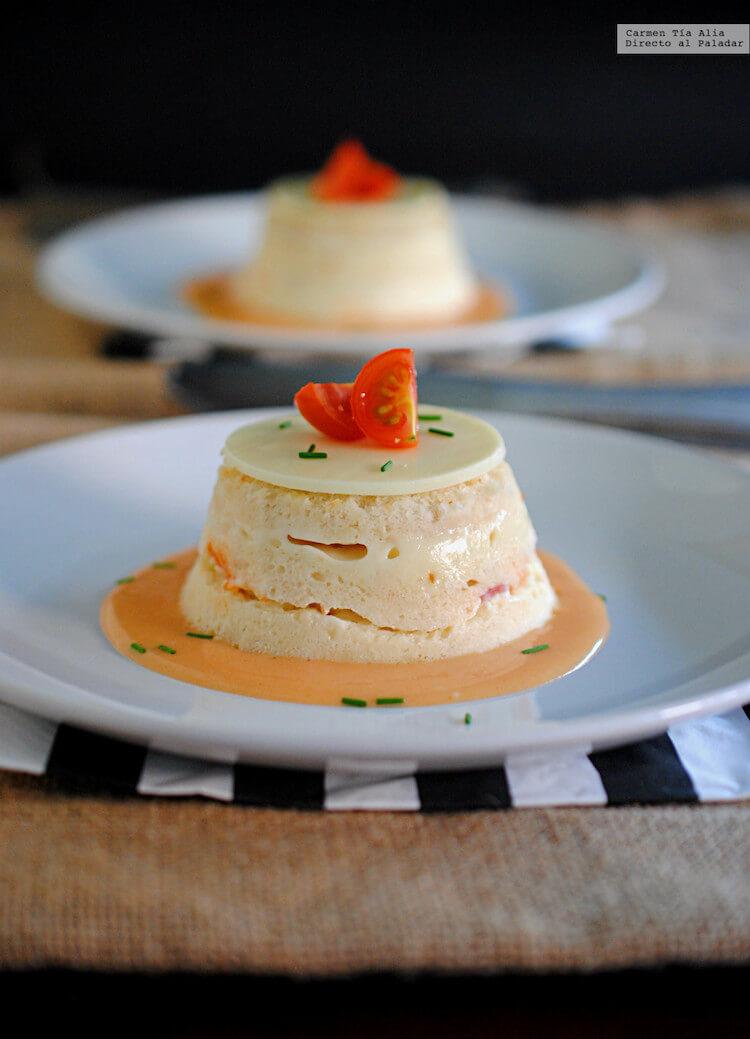 5 recetas con pan de molde festivas, pastel de pan de molde