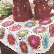 Carpeta con flores a Crochet