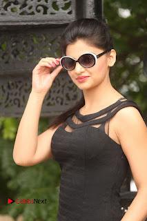 Actress Kamna Ranwat  Pictures in Black Short Dress at Selfie Raja Interview  0084