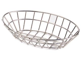 bread basket, oval basket, stainless basket, fruit basket