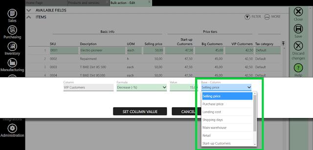 set column value formula
